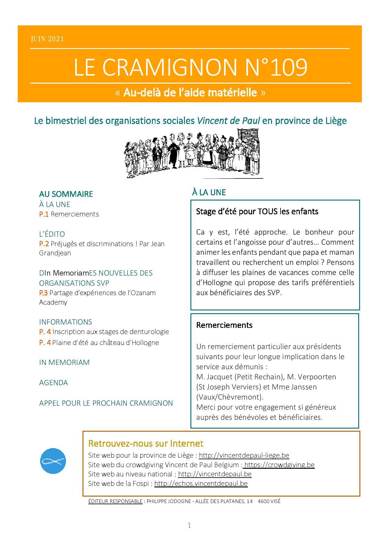 Ok Le bimensuel n°109 Conseil provincial de Liège - Vincent de Paul ASBL-page-001
